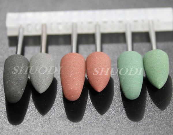 10pcs Dental Materials Silicon Rubber Polishing Grinding Bur - Dental Desire.com