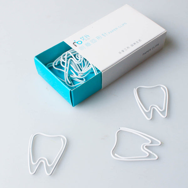 White paper clip white tooth paper clips - Dental Desire.com