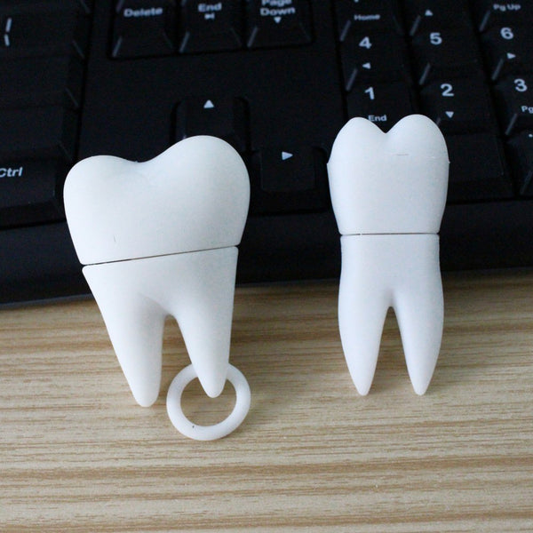 Mini White Molar Tooth Shape Memory USB 2.0 Flash Drive - Dental Desire.com