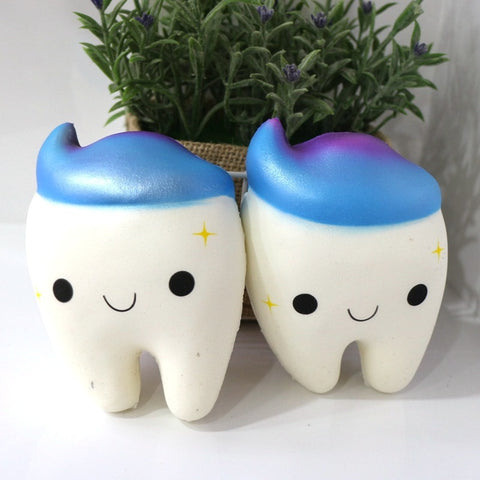 Jumbo Squishy Tooth Soft Squeeze Stress Buster Toy - Dental Desire.com