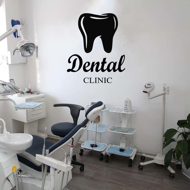 Tooth Dental Clinic Removable Wall Sticker - Dental Desire.com