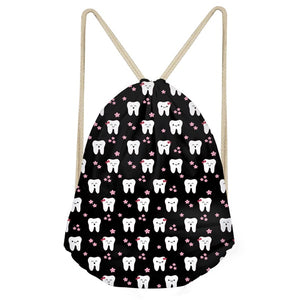 Dental Design Print Drawstring Bag - Dental Desire.com