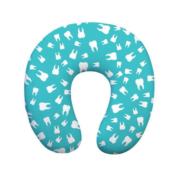 Comfortable Dental Print Gift U Shaped Travel Neck Pillow - Dental Desire.com