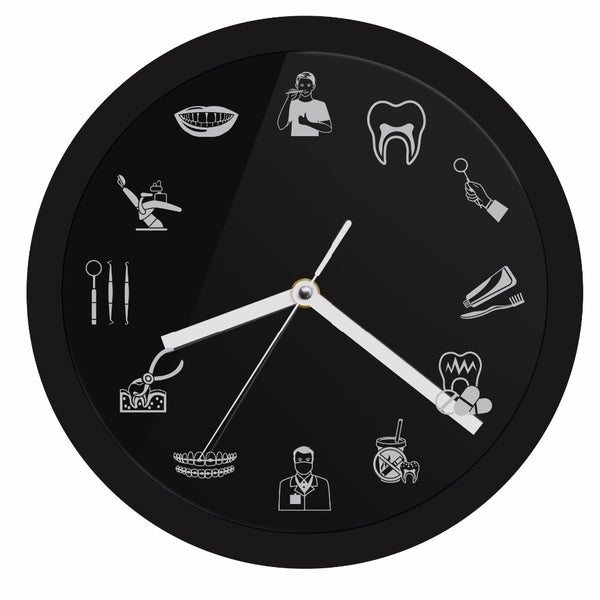 Dental Logo Theme Wall Clock - Dental Desire.com