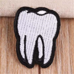 Embroidered Cute Tooth Logo patches for clothing Diy deal with it Stickers - Dental Desire.com