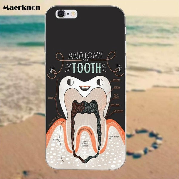 Dental Designs Mobile Cases For iPhone 4 4S 5 5S 5C SE 6 6S 7 8 iPhone X - Dental Desire.com