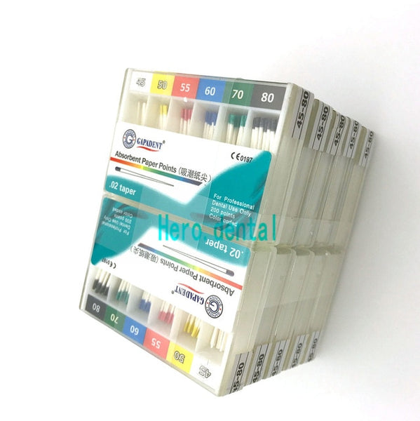 10 boxes/2000pcs Dental Material Absorbent Paper Points 0.02 Taper - Dental Desire.com
