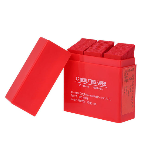 300 Sheet/Box Articulating Paper Blue/Red Strips Dental Products  55*18mm - Dental Desire.com