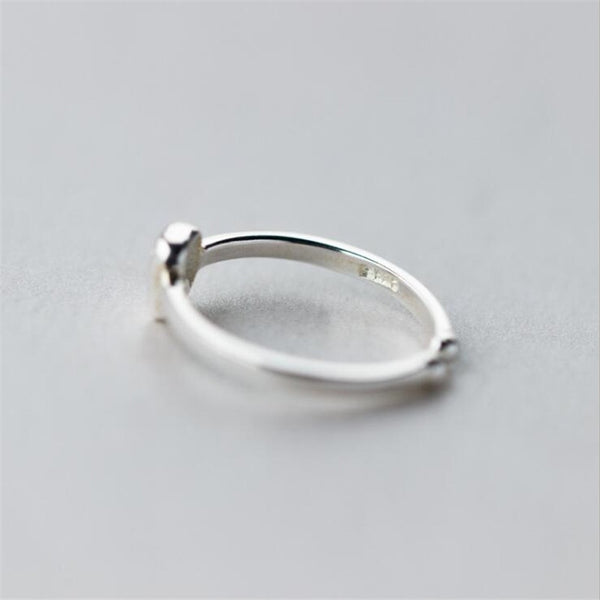 New Exquisite Sterling Silver Jewelry Crystal Small Tooth Opening Rings - Dental Desire.com
