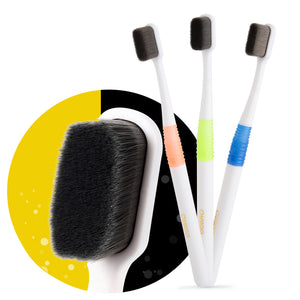 Super Dense Bristles Toothbrush Ultrasoft Bamboo Charcoal Fiber Soft Oral Care - Dental Desire.com