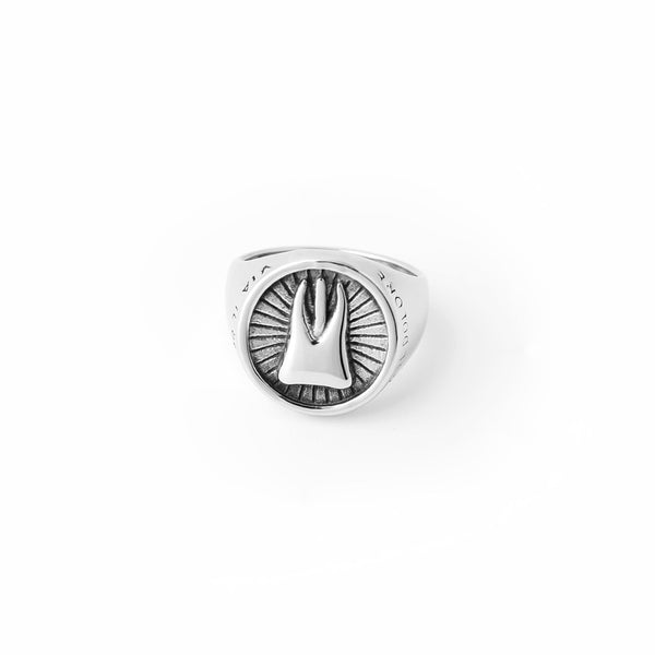 Tooth Shaped Round Medal Ring for Men - Dental Desire.com