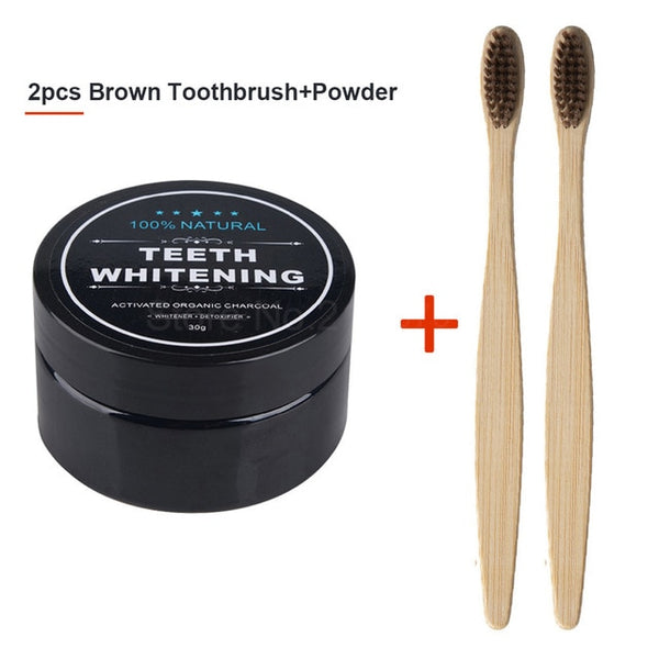 Teeth Whitening  Bamboo Activated Charcoal Powder For Smoke Coffee Tea Stain Removal Oral Hygiene Dental Tooth Care - Dental Desire.com