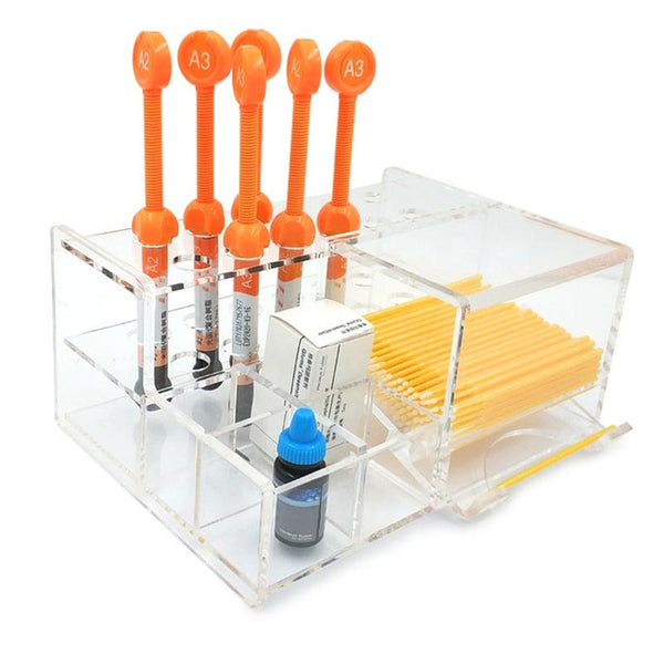 Holder for Composite Syringes & Accessories Dental Tool Box Stand - Dental Desire.com