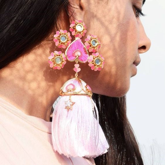 Sustain Earrings for Mehendi & Haldi Function