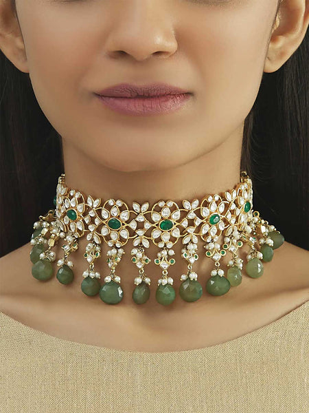 Kundan Necklace By Nepra L0711