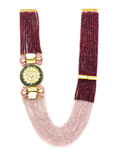 Joules By Ruby Pink Multi liner Necklace L0722