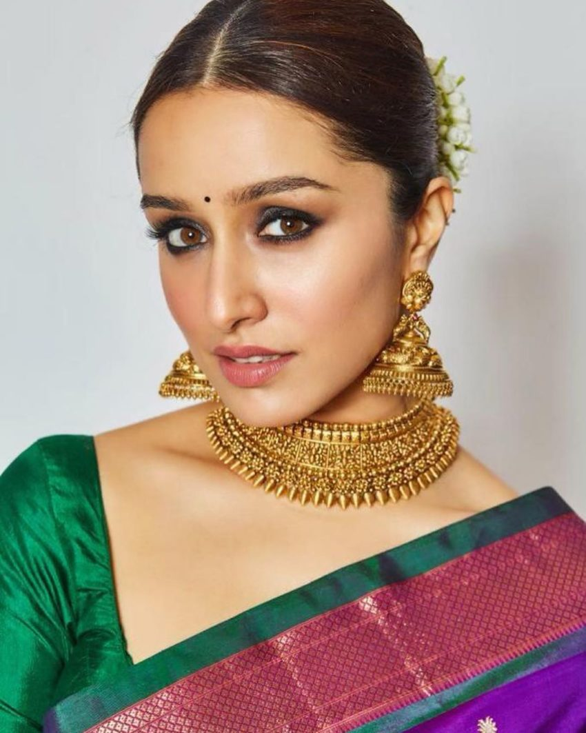 Shraddha kapoor_temple jewelry