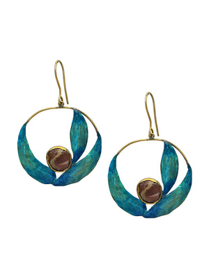 Agate Stone Earrings L0260 - SIA Jewellery