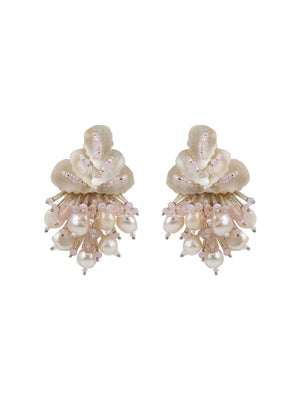Wild Rose - Studs With Baby Pink Colour by DORO L1041 - SIA Jewellery