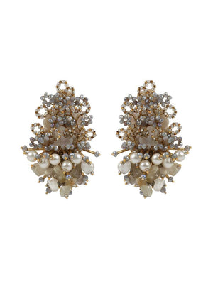 Apple Blossom - Studs With Grey Colour by DORO L1044 - SIA Jewellery