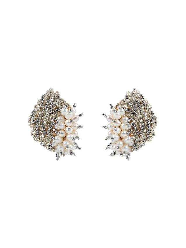 Iris - Studs With Silver Colour by DORO L1048-SIA Jewellery
