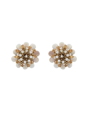 Gerbera - Studs With Golden Colour by DORO L1049 - SIA Jewellery