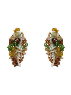 Furry - Studs With Multicolor Colour by DORO L1055 - SIA Jewellery