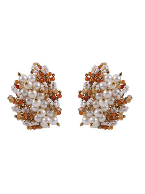 Buttercup - Studs With Orange Colour by DORO L1057 - SIA Jewellery