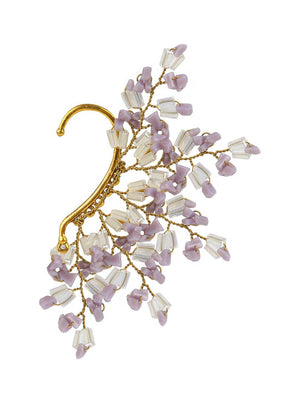 Reyya  - Earcuffs With Purple Colour by DORO L1106 - SIA Jewellery