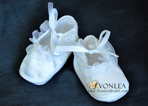 Newborn Infant Girl Ruffle Shoes