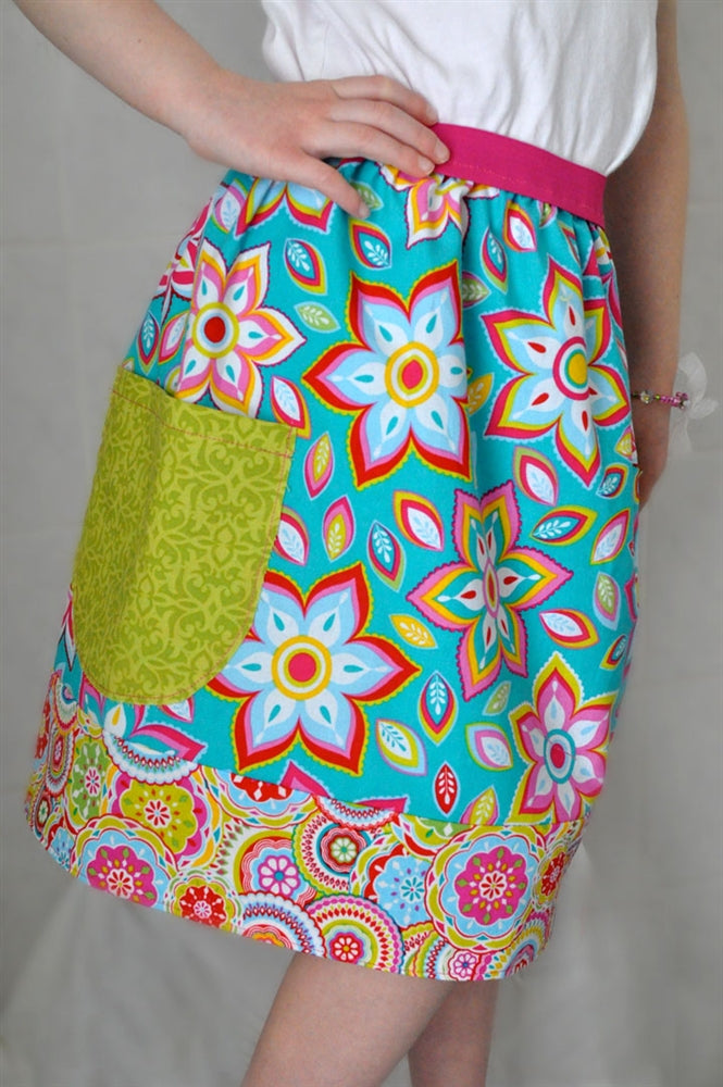 Floral Turquoise Skirt