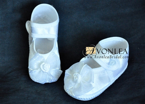 Newborn Infant Girl Flower Shoes