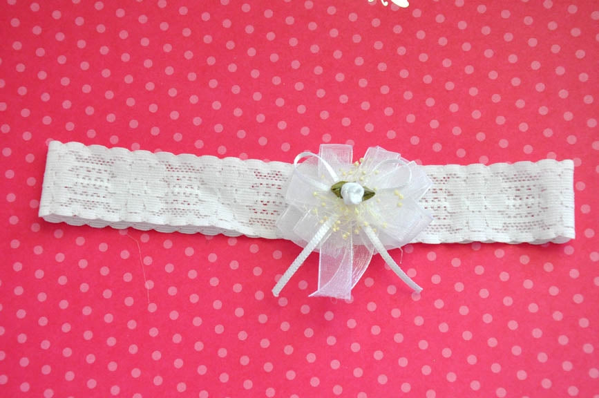 Basic Lace Elastic Bow