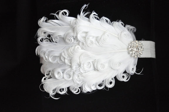 Feather Rhinestone Headband