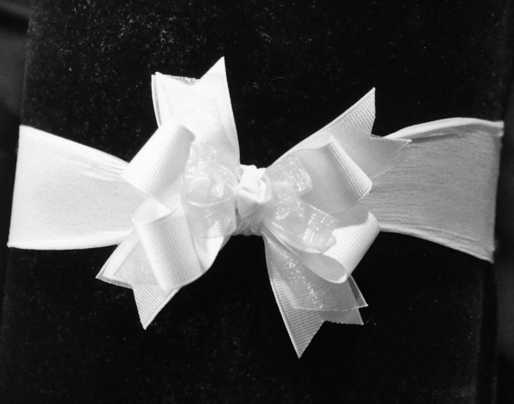 Grosgrain Organza Nylon Hair Bow