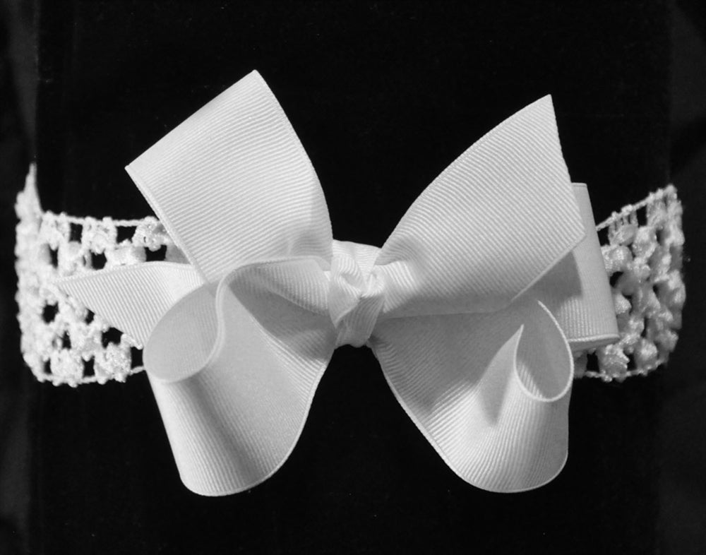 Grosgrain Hair Bow on Stretch Band