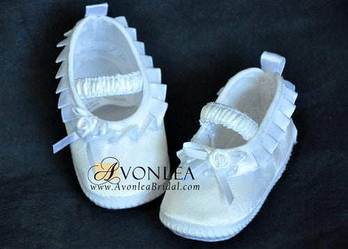 Newborn Infant Girl Pleated Shoes