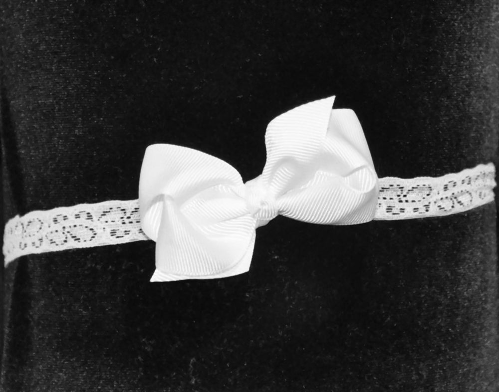 Grosgrain Stretch Lace Hair Bow