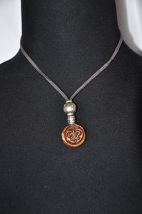 Fluer De Lis Leather Necklace