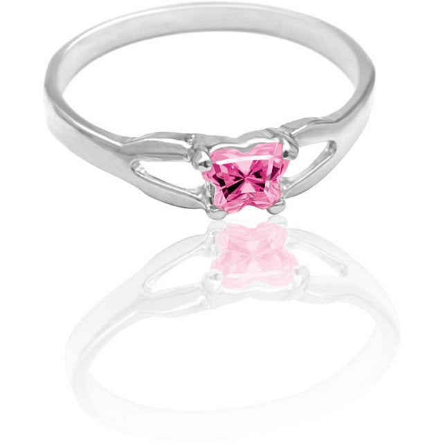Butterfly Birthstone Ring