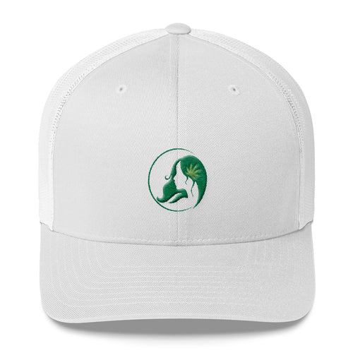 Retro Trucker Cap w/ Dark Green Logo