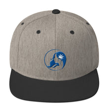Load image into Gallery viewer, Snapback Hat w/ Blue Logo
