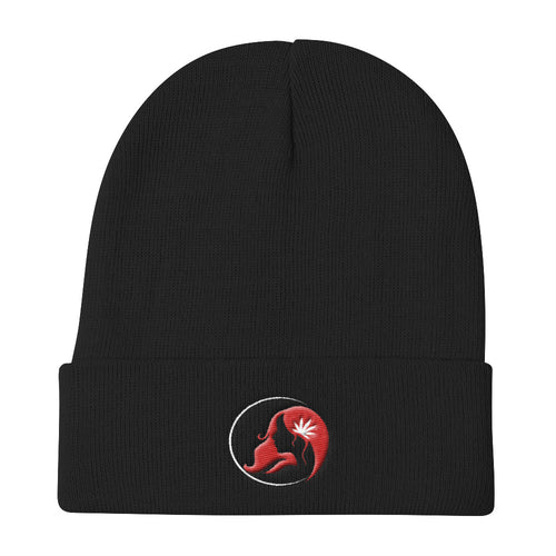 Knit Beanie w/ White/Red Logo