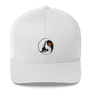 Retro Trucker Cap w/ Black/Orange Logo