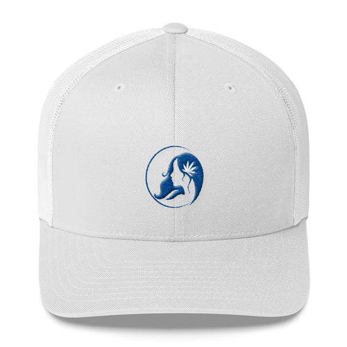 Retro Trucker Cap w/ Blue Logo
