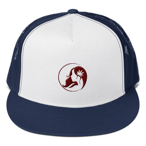 Five Panel Trucker Cap w/ Maroon Logo