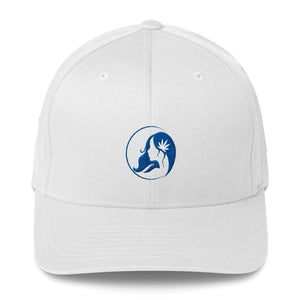 Fitted Twill Cap w/ Blue Logo