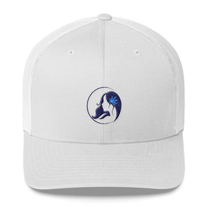 Retro Trucker Cap w/ Dark Blue Logo