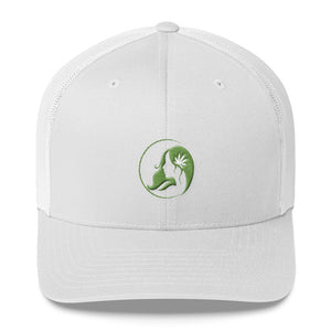 Retro Trucker Cap w/ Green Logo
