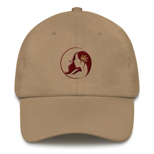 Dad hat w/ Tan/Maroon Logo